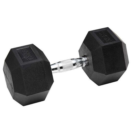 Celsius Rubber Hex Dumbbell 22.5kg, , rebel_hi-res