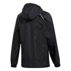 adidas Boys Core 18 Rain Jacket Black 6, Black, rebel_hi-res