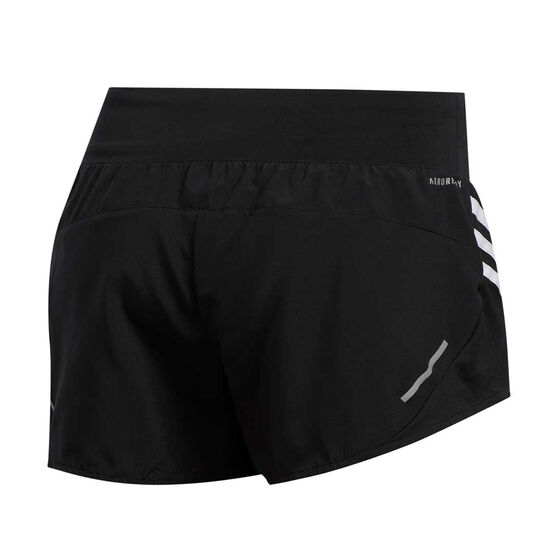 adidas Womens Run It 3-Stripes 4in Shorts Black S, Black, rebel_hi-res