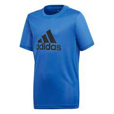 adidas Boys Gear Up Tee Blue / Black 6, Blue / Black, rebel_hi-res