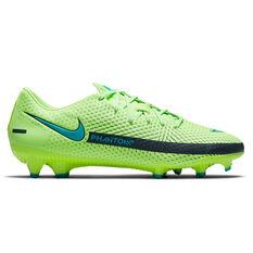 Nike Phantom GT Academy Football Boots Green/Blue US Mens 4 / Womens 5.5, Green/Blue, rebel_hi-res