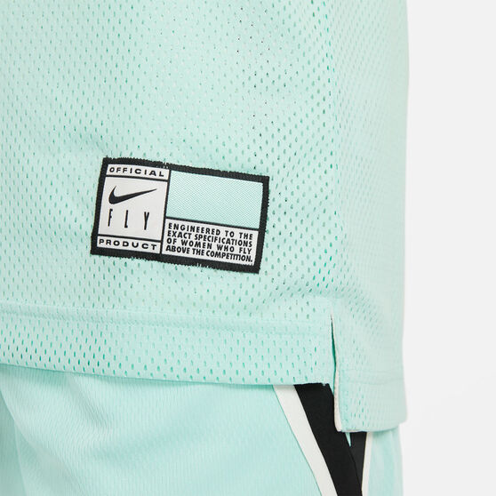 Nike Womens Essential Fly Reversible Basketball Jersey, Mint, rebel_hi-res