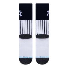 Stance New York Yankees Coloured Socks Black/White L, Black/White, rebel_hi-res