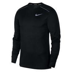 Nike Mens Dri-FIT Miler Long Sleeve Tee Black S, Black, rebel_hi-res