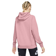 Nike Womens Sportswear Essentials Full Zip Hoodie Pink XS, Pink, rebel_hi-res