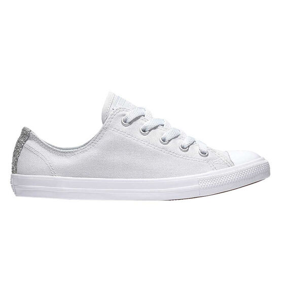 Converse Chuck Taylor All Star Dainty Womens Casual Shoes, White / Silver, rebel_hi-res