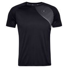 Under Armour Mens Qualifier Iso-Chill Tee Black S, Black, rebel_hi-res
