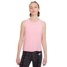 Nike Air Womens Running Tank Pink XS, Pink, rebel_hi-res