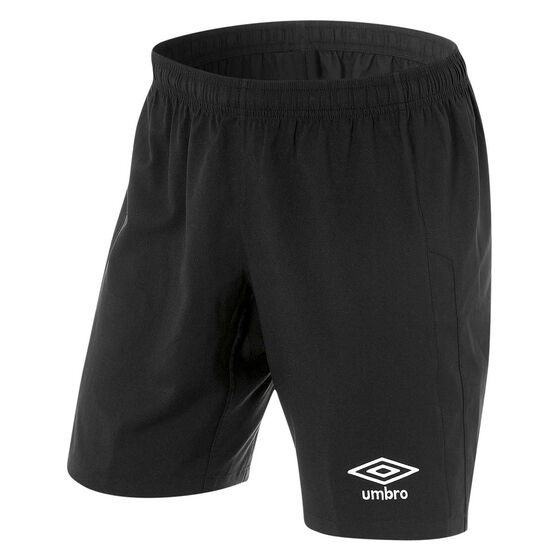 Umbro Mens League Knit Shorts, Black, rebel_hi-res