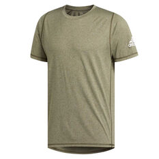 adidas Mens Freelift Sport Ultimate Heather Tee, Green, rebel_hi-res