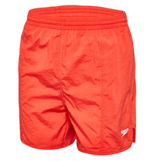 Speedo Mens Solid Board Shorts Red S, Red, rebel_hi-res