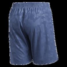 adidas Mens Run It Urban Camo Shorts Navy S, Navy, rebel_hi-res