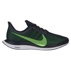 Nike Air Zoom Pegasus 35 Turbo Mens Running Shoes Black / Lime US 7, Black / Lime, rebel_hi-res