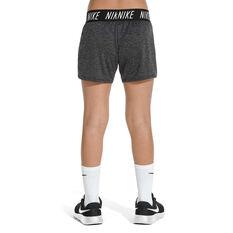 Nike Girls Dry Trophy Training Shorts, Black / White, rebel_hi-res