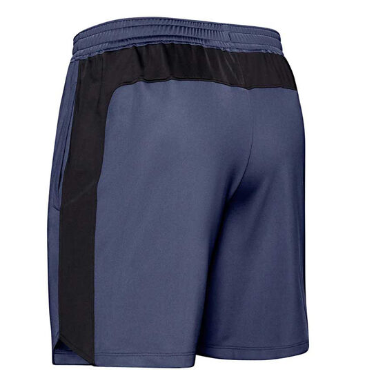 Under Armour Mens MK-1 7in Graphic Shorts, Blue, rebel_hi-res