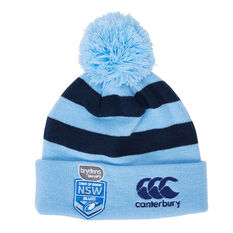 NSW Blues State of Origin 2019 Stripe Pom Pom Beanie, , rebel_hi-res