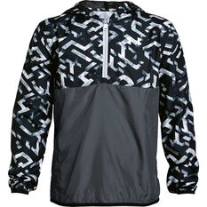 3161e80fc65826 Under Armour Boys Sackpack Half Zip Jacket Black   White XS