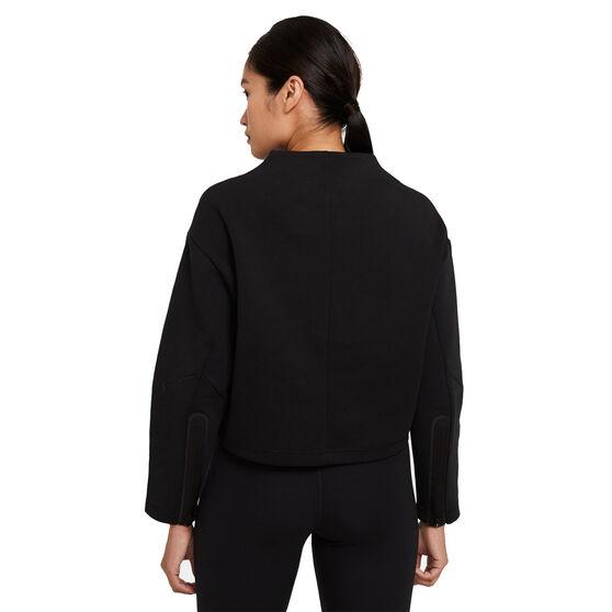 Nike Womens Sportswear Tech Fleece Crew Sweater, Black, rebel_hi-res