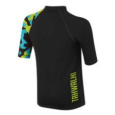 Tahwalhi Boys Front Line Rash Vest Black / Blue 8, Black / Blue, rebel_hi-res