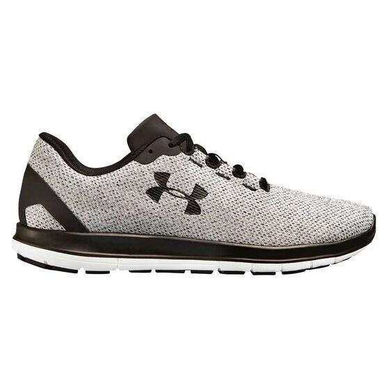 Under Armour Remix Mens Running Shoes, Grey / Black, rebel_hi-res