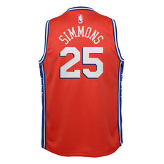 Nike Philadelphia 76ers Ben Simmons Statement 2019 Swingman Jersey Red / Blue S, Red / Blue, rebel_hi-res