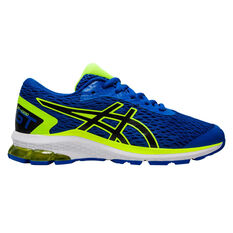 Asics GT 1000 9 Kids Running Shoes Blue / Yellow US 1, Blue / Yellow, rebel_hi-res