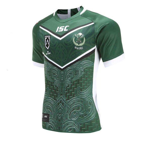 Maori All Stars 2020 Mens Home Jersey, Green, rebel_hi-res