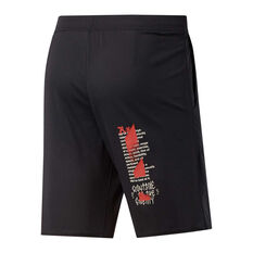 Reebok Mens CrossFit Hybrid Shorts Black XS, Black, rebel_hi-res