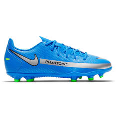 Nike Phantom GT Club Kids Football Boots Blue US 1, Blue, rebel_hi-res