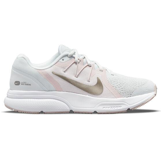 Nike Zoom Span 3 Womens Running Shoes, Grey/Pink, rebel_hi-res