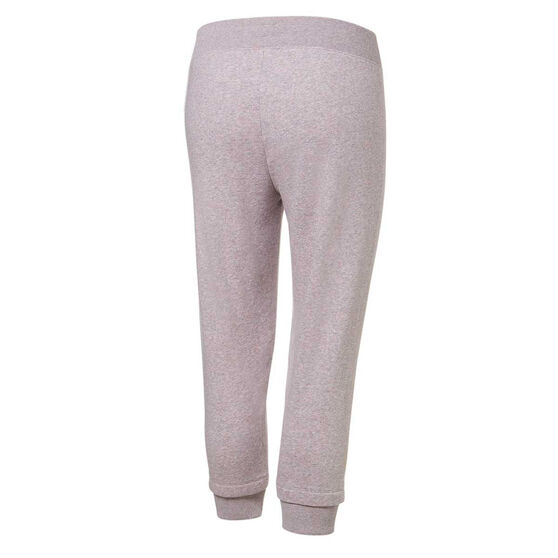 Under Armour Womens Rival Fleece Crop Pants, Grey, rebel_hi-res