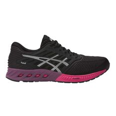 Asics FuzeX Womens Running Shoes Black / Pink US 6, Black / Pink, rebel_hi-res