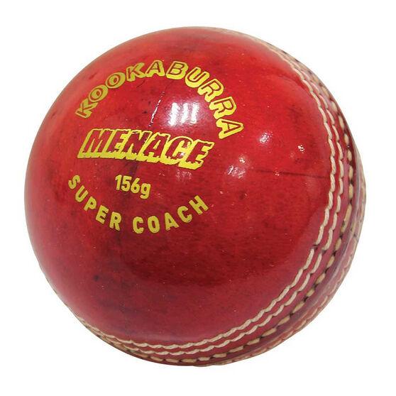 Kookaburra Menace Cricket Ball, Red, rebel_hi-res