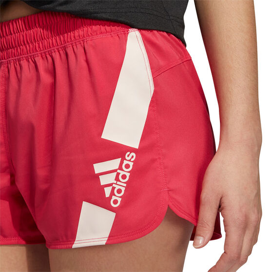 adidas Womens Pacer Disrupt Shorts, Pink, rebel_hi-res