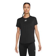 Nike Air Womens Running Tee, Black, rebel_hi-res