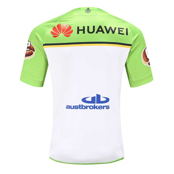 Canberra Raiders 2020 Mens Away Jersey Green / White 2XL, Green / White, rebel_hi-res