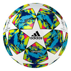 adidas Finale 19 Soccer Ball White / Blue 3, White / Blue, rebel_hi-res