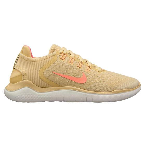 Nike Free RN 2018 Womens Running Shoes, Yellow / Pink, rebel_hi-res
