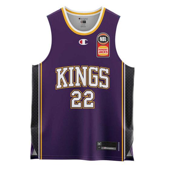 Sydney Kings Casper Ware Jr. Home 20/21 Kids Home Jersey, Purple, rebel_hi-res