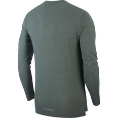 Nike Mens Rise 365 Long-Sleeve Running Top Green S, Green, rebel_hi-res