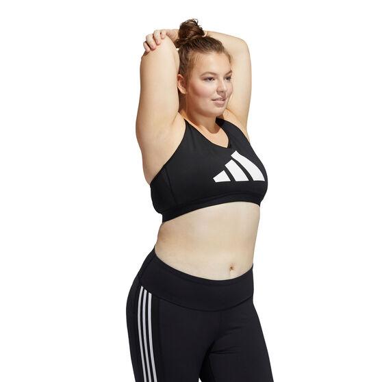 adidas Womens Don't Rest Sports Bra Plus, Black, rebel_hi-res