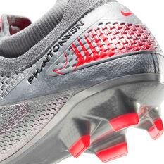 Nike Phantom Vision II Elite Football Boots, Silver/Red, rebel_hi-res