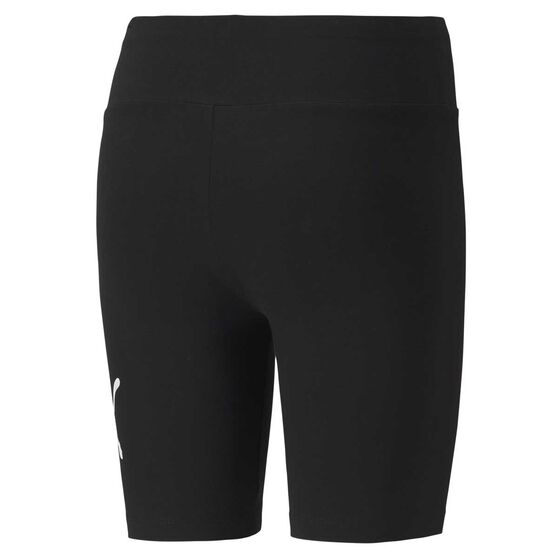 Puma Womens Essential 7 Inch Short Tights, Black, rebel_hi-res