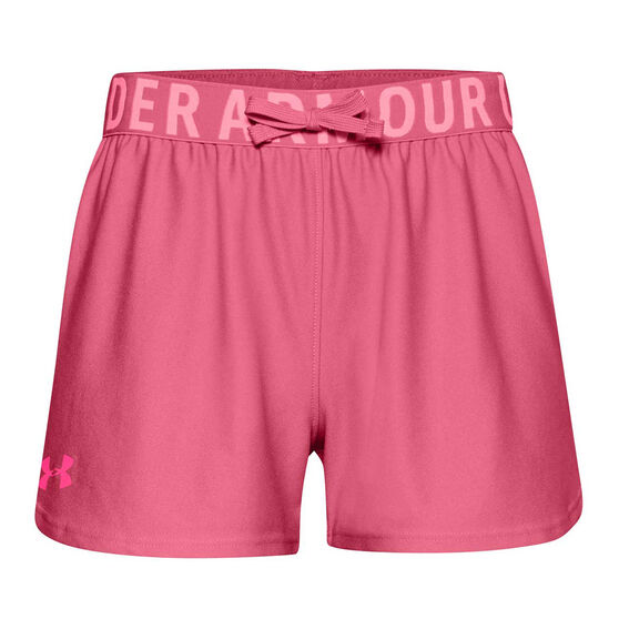 Under Armour Girls Play Up Shorts, Pink, rebel_hi-res