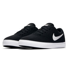 Nike SB Check Canvas Kids Skateboarding Shoes Black / White US 6, Black / White, rebel_hi-res