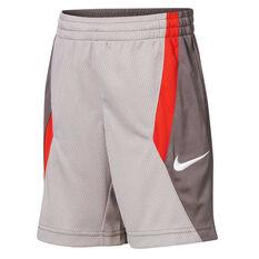 Nike Boys DriFIT Avalanche Basketball Shorts Grey 4, Grey, rebel_hi-res