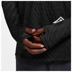 Nike Mens Dri Fit Element Longsleeve Top, Black, rebel_hi-res