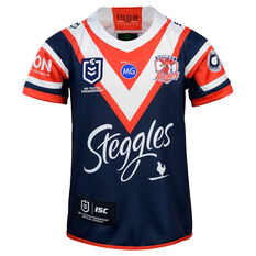 Sydney Roosters 2020 Kids Home Jersey Navy/Red 6, Navy/Red, rebel_hi-res