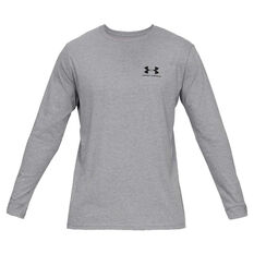 Under Armour Mens Sportstyle Left Chest Tee Grey S, Grey, rebel_hi-res