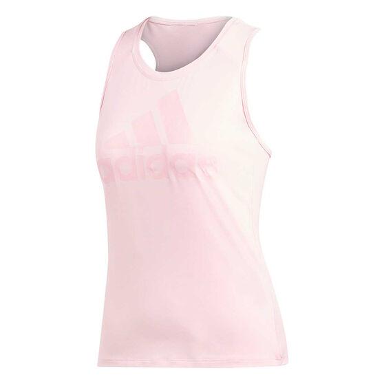 adidas Womens Logo Training Tank, Pink, rebel_hi-res